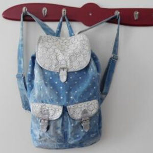 Justice Denim Lace Backpack
